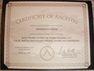 Predencia's African Ancestry results
