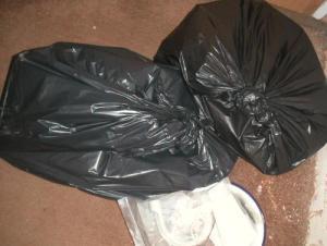 Black bags of books