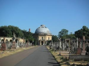 The main street in Brompton Cemetery