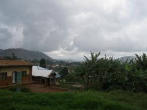 Views of the distant hills from the volunteer house in Kumbo