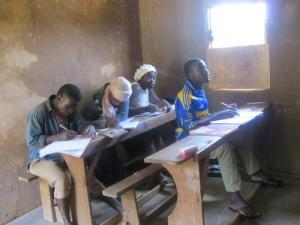 New classroom being used even before the plaster's dry