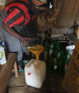 Five gallons of palm wine