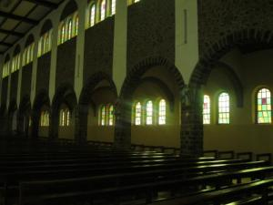 Inside Kumbo Catholic cathedral