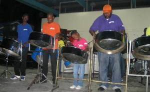 Steel band playing at Oistens