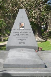 Grave of David Thompson ex prime minister of Barbados