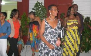 Revelers at the dance
