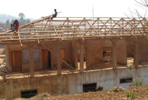 Self Reliance School in Kumbo Cameroon - nearly there with the roof now