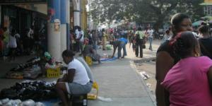 Street vendors in downtown Kingston