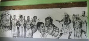 Mural celebrating the life of the Maroons