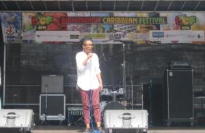 Young poetry performer at BCF