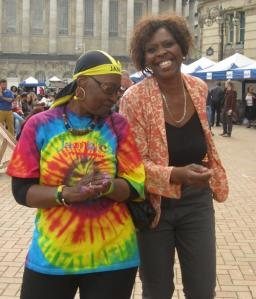 Ita and Joan (Festival organizer) getting down to the beats