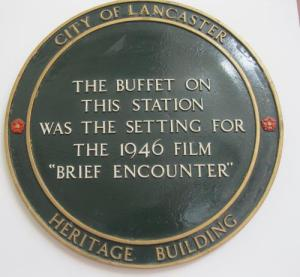 Brief Encounter plaque at  Carnforth  Station