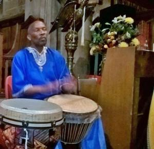 Chester Morrison drummed us into the service in true African style